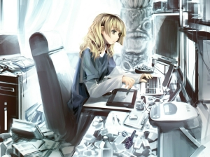 blondes computers keyboards anime anime girls mp3 player 1280x958 wallpaper_www.wall321.com_87
