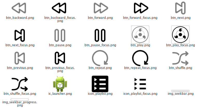 daftar icon