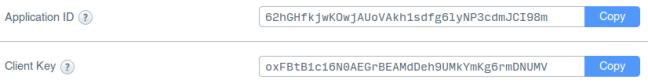 app id dan client key