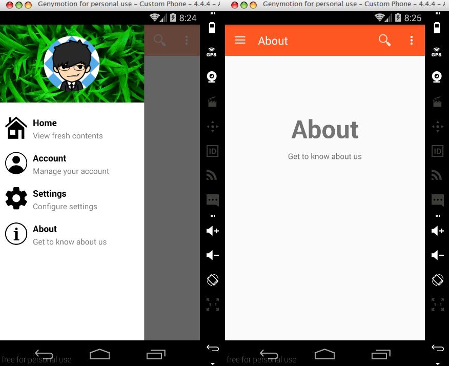 Android] Membuat Navigation Drawer (Material Design) dengan