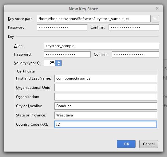 create new keystore 3