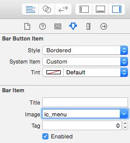 bar button style