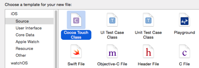 create new cocoa touch