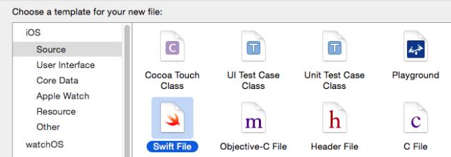 create swift file